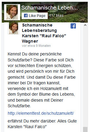 "schamanische Lebensberatung Karsten ""Raul Falco"" Wagner"